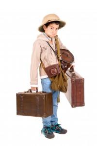 La valise pour enfant accompagne l'enfant partout