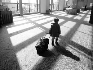 L'enfant part en voyage